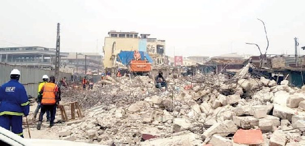 Kumasi: Famous 'Edwom Aborosan' demolished for Central Market project