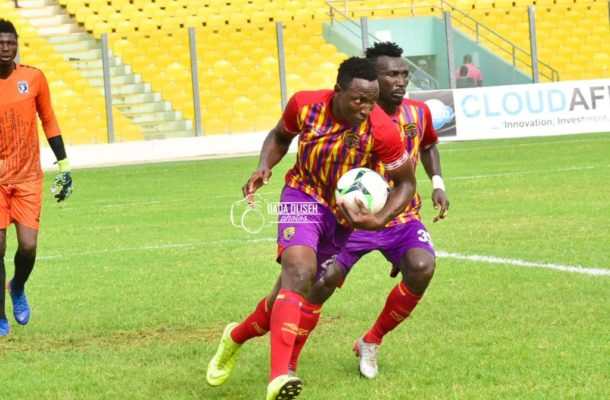 Kofi Kordzi tames plucky Bechem United in Hearts win