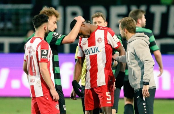 VIDEO: Ghanaian defender Leroy Kwadwo gets support from opposing fans after being racially abused