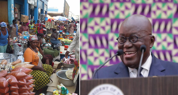 Speak Form 4 English, we didn't understand your American accent – Traders react to Akufo-Addo SONA