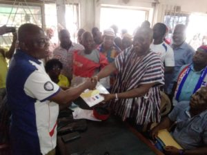 PHOTOS: Incumbent Suhum MP submits forms for NPP primaries