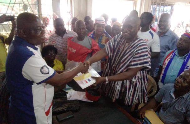 PHOTOS: Incumbent Suhum MP submits forms for NPP primaries
