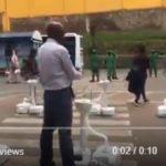 Rwanda installs wash basins near buses to combat virus