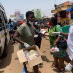 Coronavirus: NPP Deputy Youth Organizer shares hand sanitizers and face mask