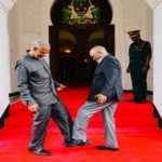 Coronavirus: Tanzania president exchanges foot greeting with opposition politician