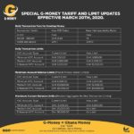 GCB Bank introduces special tariffs and limits for customers on G-Money Service