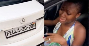 VIDEO: Medikal surprises Fella Makafui with a brand new customized Benz C300 as 'wedding gift'