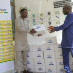 COVID-19: Black Stars winger Samuel Owusu donates sanitizers to GFA