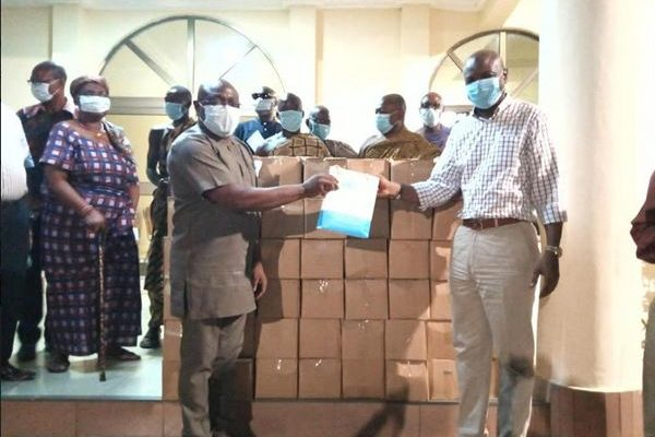 COVID 19: Togbe Afede donates Sanitizers, GHc100,000 to two hospitals