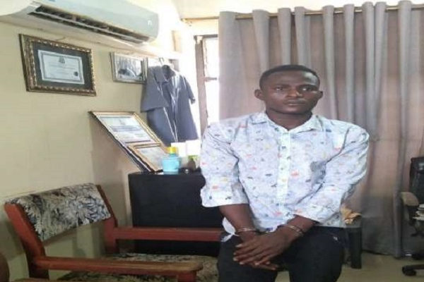 Police arrests notorious armed robber in a hotel