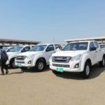 GES, others receive pickups and motorbikes from Government