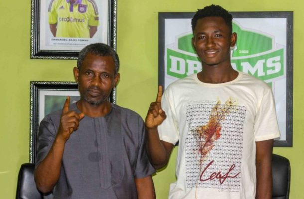 GPL: Dreams FC signs young attacker Precious Boah