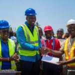 Ablekuma West MP Ursula Owusu cuts sod for the construction of 18-unit classroom block