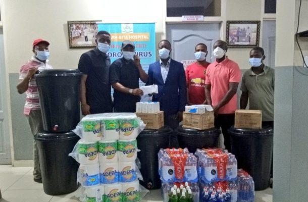 COVID-19 fight: Black Stars winger Nana Ampomah donates health items to Narh-Bita Hospital in Tema