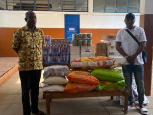 COVID-19 fight: Nana Ampomah donates to Dzorwulu Special School