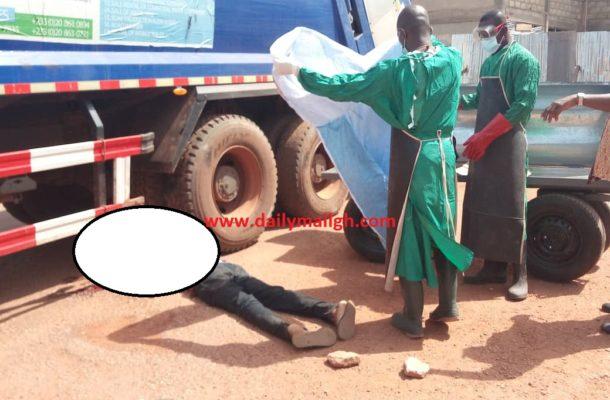 Garbage truck runs over man's head at Berekum hospital