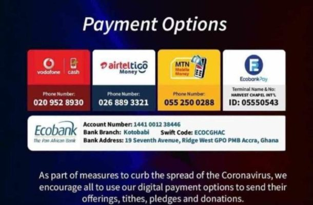 COVID-19: Churches resort to mobile money, smart payments to take collection, tithe