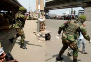 VIDEO: Military descends on man for flouting lockdown directive