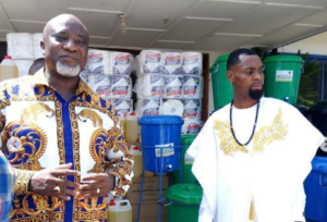 VIDEO: Rev. Obofour donates GHC100,000 and other items to Tema General Hospital