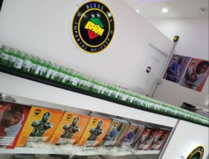 PHOTOS: Stonebwoy shares hand sanitizers at his BHIM shop