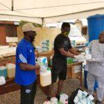 COVID-19: Beach Soccer, PFAG donates to Madina Polyclinic