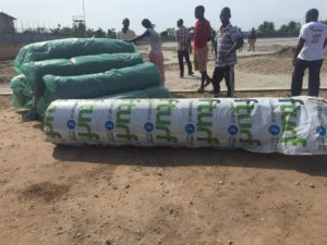 PHOTOS: Materials arrive at Anyinase for Karela's stalled astro turf construction