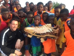 Scottish coach Mark Holmes visits his academy in Atwima Koforidua
