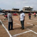 COVID-19: MCE inspects lane marking works in Techiman Central Market