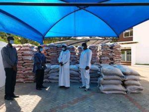 Mahama presents Ramadan items to the Muslim community