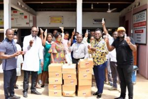 COVID-19: Kwaku Oteng donates items worth GHS800k to hospitals, orphanages