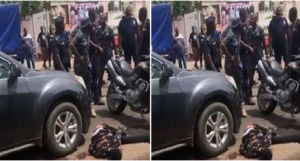 VIDEO: One suspect shot dead in daylight robbery at Tema
