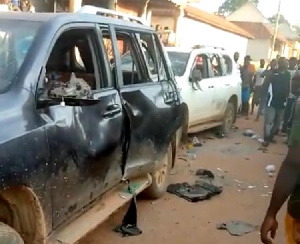 Galamsey: 1 dead, 14 arrested, 2 Toyota Landcruisers vandalized in Ashanti region
