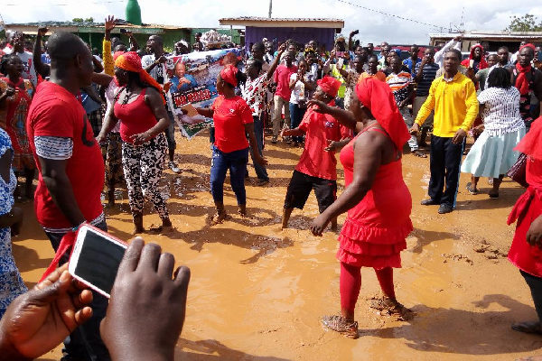 Tension as developer invades community, destroys large acres of farms at Upper West Akyem