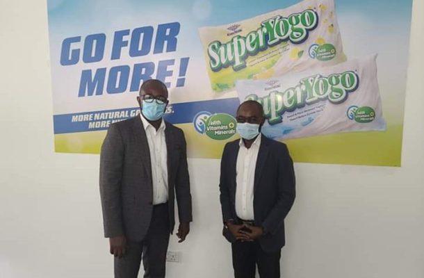 GFA boss pays courtesy call on Fan Milk Ghana