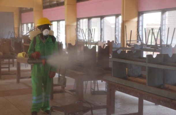 Massive fumigation & disinfection at Ahantaman Girls, Porters et al in W/R