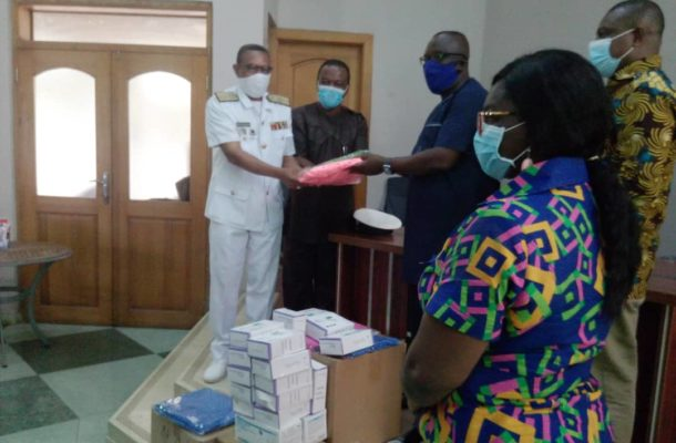 GAFCSC/Forestry Commission assist Kpeshie Health Center/ Family Health Hospital with medical items