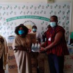 Kyebi diaspora donate to hospital amid COVID-19