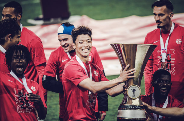 PHOTOS: Majeed Ashimeru wins first trophy with Red Bull Salzburg