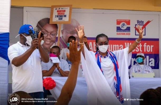 NPP Primaries: Ablekuma West acclaims Ursula Owusu as Parliamentary candidate