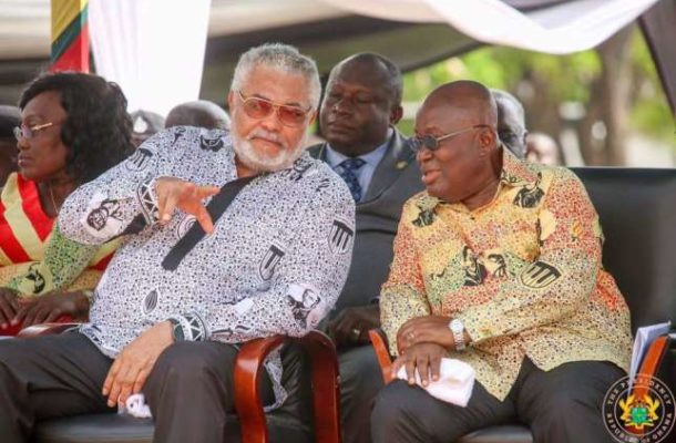Rawlings tells Akufo Addo to be 'intelligent' in security matters at the Volta Region