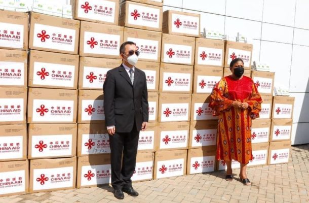 China Embassy donates PPEs to Ghana's first lady