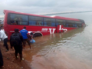 VIP bus plunges into River Oti at Dambai crossing