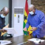 John Mahama receives copy of NDC's 2020 manifesto