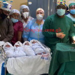 Prof Opoku-Agyemang rescues woman as husband vanishes after she gives birth to quadruplets
