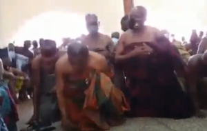 Bantamahene breaks silence over a video of 'him' crawling before Otumfuo