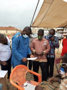PHOTOS: John Kumah tours voter registration centres in Ejisu constituency
