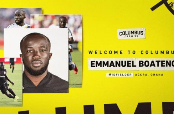 Experienced midfielder Emmanuel Boateng completes Columbus Crew switch