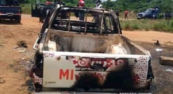PHOTOS: One dead, properties set ablaze as NPP, NDC supporters clash