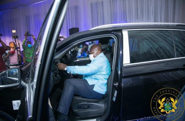 Akufo-Addo unveils first assembled VW vehicles Ghana