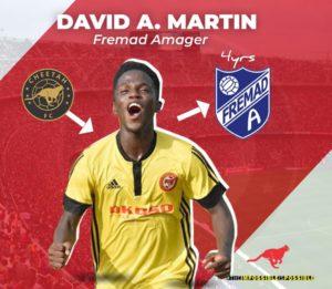 Danish Club Fremad Amager signs Cheetah Fc's David Anane Martin